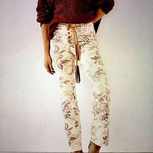 Anthro Pilcro High Rise Trouser Bootcut Jeans 26